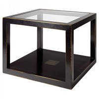 Oriental Cube Coffee Table Distressed Lacquer