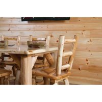 White Cedar Log Dining Chair