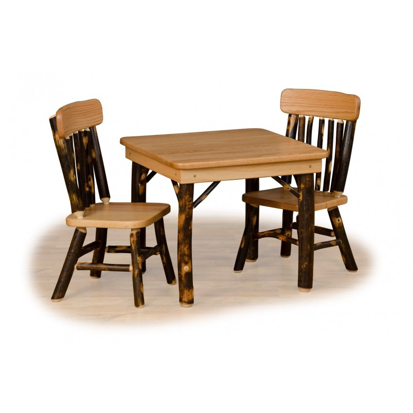kids adirondack chair and table set with umbrella zone flip rustic hickory oak