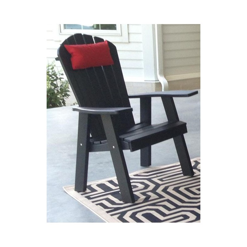 wrought iron chair ez barber adirondack outdoor head pillow - furniture barn usa