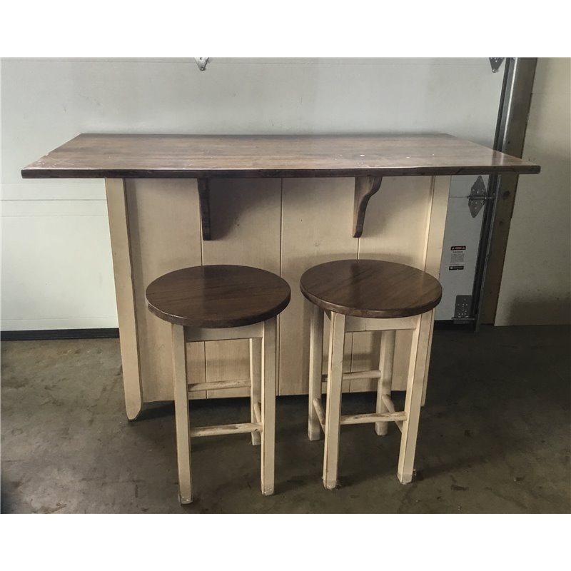 Primitive Kitchen Island in Counter Height Set  2 Sizes Available