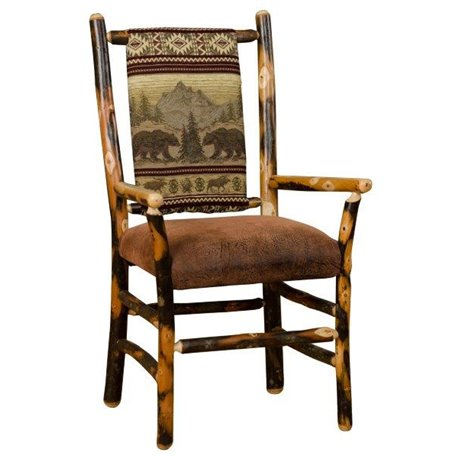 dining chairs fabric high chair set of 2 low back upholstered with arms byler s two rustic hickory