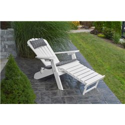 folding reclining poly fanback adirondack chair w pull out ottoman