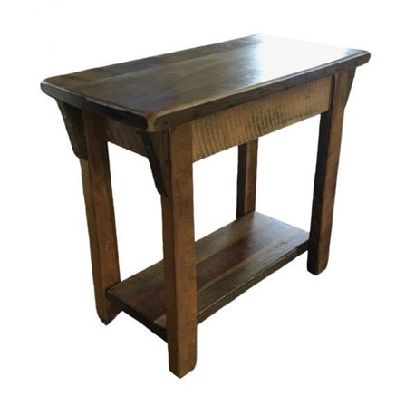 barn wood sofa table rustic accent table with lower shelf