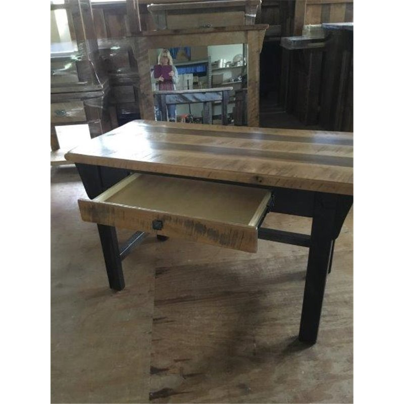 Barn Wood Desk  Reclaimed Wood Writing Desk with Drawer