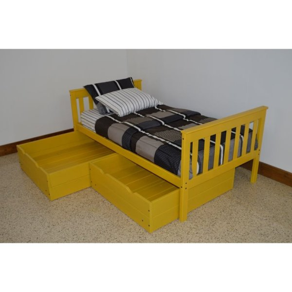 Pine Mission Style Under Bed Drawers