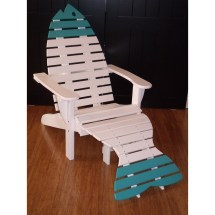 Set Of 2 Poly Fish Chairs With End Table