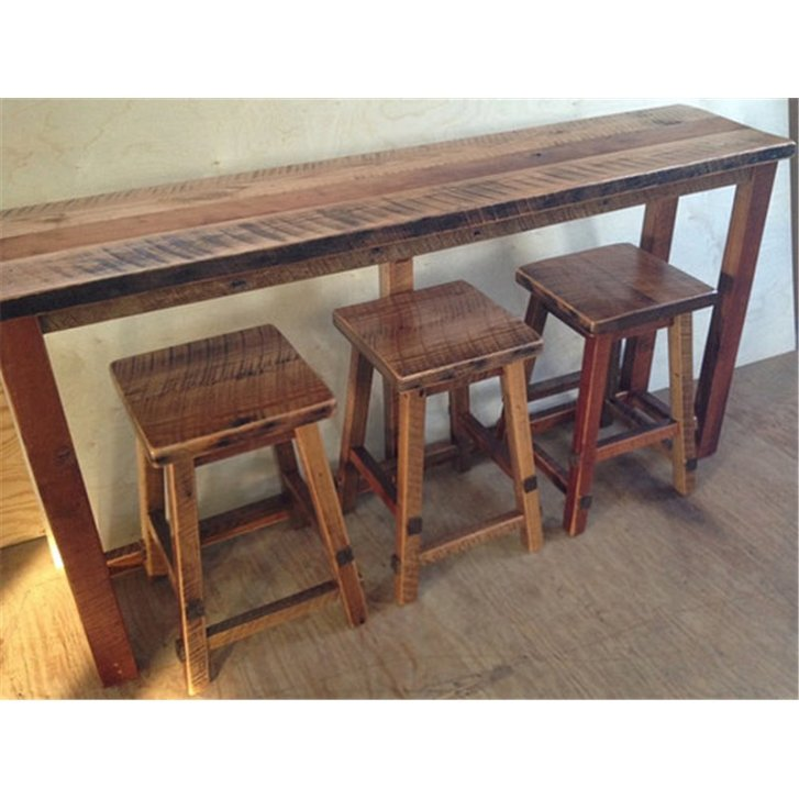 Barn Wood Kitchen Bar Breakfast Sofa Table Height