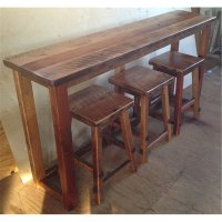 Reclaimed Barn Wood Breakfast Bar Set