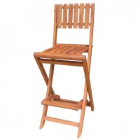 Solid Acacia Folding Bar Stool