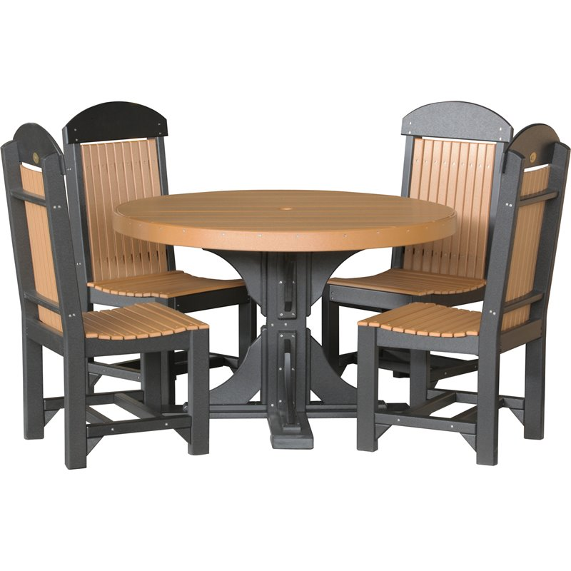 Poly 4 Round Table  Chairs