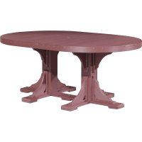 Poly 4x6' Oval Table & Chairs