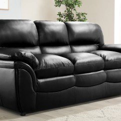 3 Seater Sofa Black Leather Best Manufacturers Canada Rochester Only 449 99 Furniture Choice Gallery