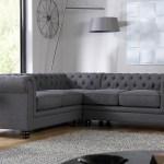 Hampton Slate Fabric Chesterfield Corner Sofa Furniture Choice