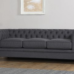 Chesterfield Sofa Material Gus Sleeper Hampton 2 Seater Fabric Slate Grey Only 549 99 Video