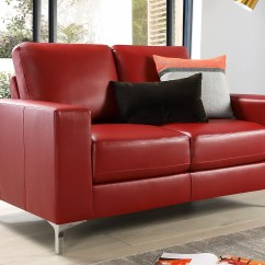 Red Leather Two Seater Sofa Ambient Sillones Y Sofas Corrientes Baltimore 2 Only 349 99 Furniture Choice
