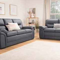 3 2 Leather Sofa Set Sofas Company Uk Bromley Grey Seater Only 799 98 Furniture Choice