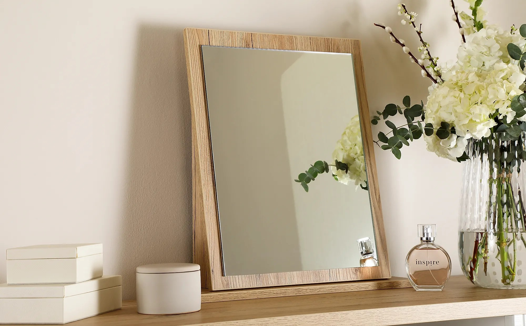 Vienna Bordeaux Oak Small Dressing Table Mirror Furniture And Choice