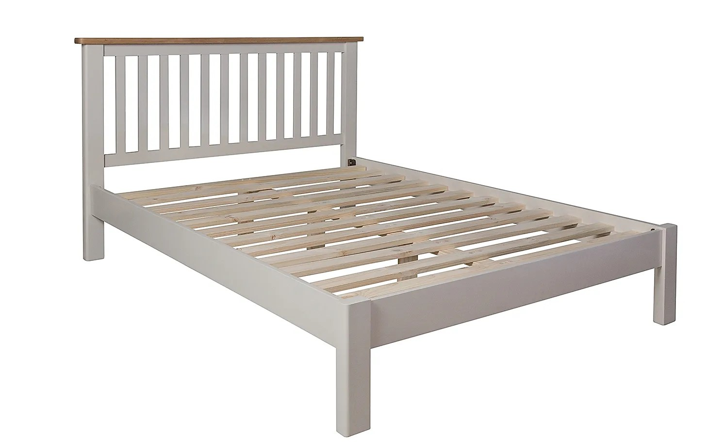 Newton Painted Grey And Oak Wooden King Size Bed Furniture Choice