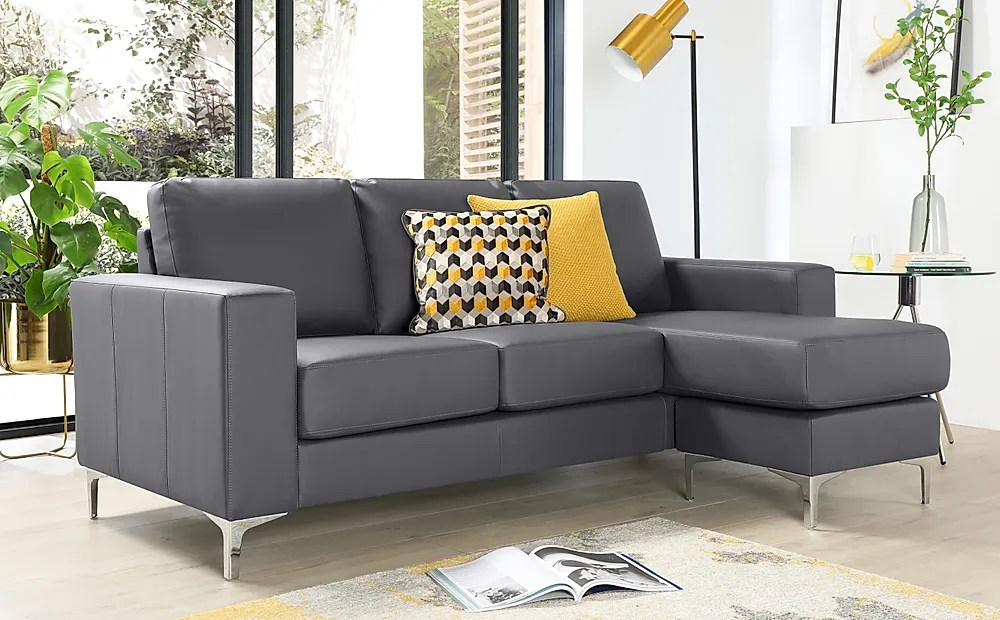 baltimore grey leather l shape corner sofa furniture and choice