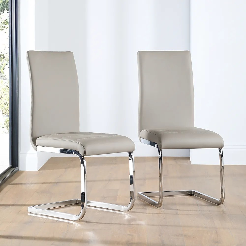 Perth Leather Dining Chair Taupe Only 6999  Furniture