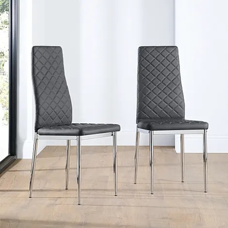 chrome dining chairs uk baker tufted furniture choice renzo leather chair grey leg