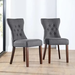 Fabric Dining Chairs Uk Frost King Lawn Chair Webbing Buy Upholstered Online Bewley Button Back Slate Wenge Leg