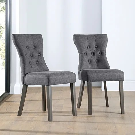 grey dining chairs diy leather chair covers buy online furniture choice bewley fabric button back slate leg