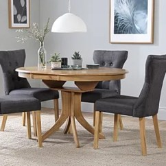 Solid Oak Dining Table And Chairs Reclining Room Sets Furniture Choice Hudson Round Extending 4 Set Bewley Slate
