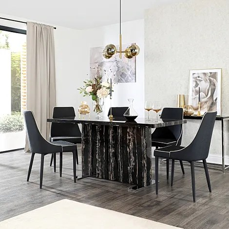 black table and chairs target kids dining sets furniture choice magnus marble with 6 modena