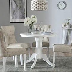 White Round Kitchen Table Small Plans Chairs Dining Sets Furniture Choice Kingston With 4 Bewley Oatmeal