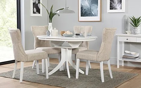 white round kitchen table rubber backed rugs hudson extending dining and 6 chairs set java with bewley oatmeal