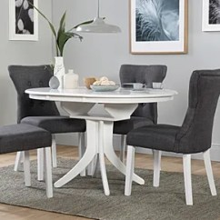 Chairs Dining Table Beach Chair Ikea Sets Tables Furniture Choice Hudson Round White Extending With 4 Bewley Slate