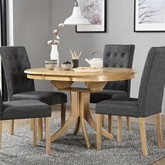 Round Oak Table And 6 Chairs Roman Chair Back Extension Alternative Dining Sets Furniture Choice Hudson Extending With 4 Regent Slate