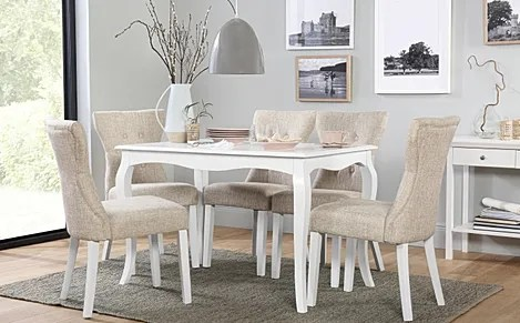 chairs for kitchen table laminate floors in sets furniture choice clarendon white dining with 4 bewley oatmeal