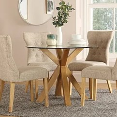 Kitchen Glass Table Quartz Top Dining Chairs Sets Furniture Choice Hatton Round Oak And With 4 Bewley Oatmeal