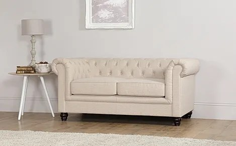 chesterfield sofa material dwell studio sofas hampton 2 seater fabric slate grey only 549 99 oatmeal