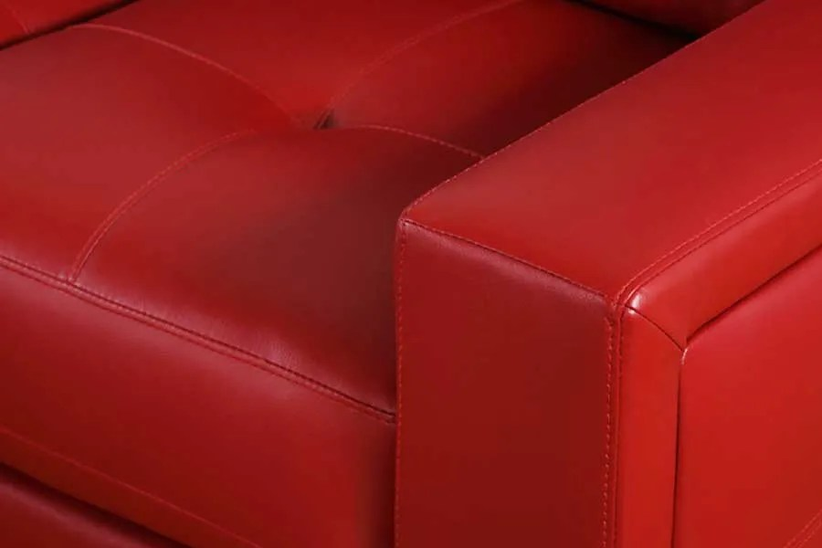 leather red sofa inflatable mattress for bed sofas furniture choice