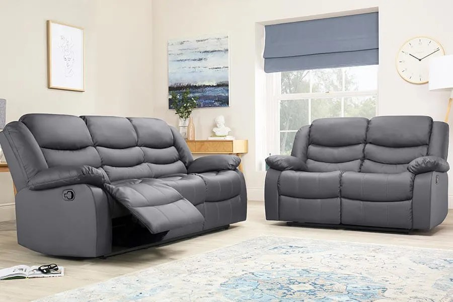 reclining sofa leather brown with chaise lounge recliner sofas buy recliners online furniture choice