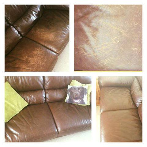 restoring leather sofa rachlin classics colour to a faded furniture clinic just spent an hour recolouring our 2 sofas due labradors jumping all over them and scratching i have say am really impressed