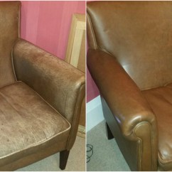 Restoring Leather Sofa Denim Sectional With Chaise Colour To A Faded Furniture Clinic