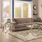 coaster tess sectional sofa leather bed houston tx gus 501677 by in fabric w sleeper 500727 beige