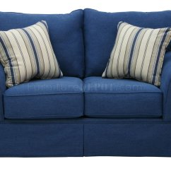 Blue Denim Sofa Bed Marshfield Tanner Fabric Modern And Loveseat Set W Options