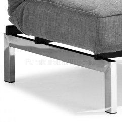 Grey Microfiber Sleeper Sofa How To Clean With Vinegar Gray Convertible Split Back