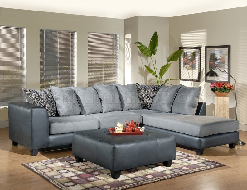 phantom contemporary grey leather sectional sofa w ottoman cheap sofas for sale in london fabric base optional