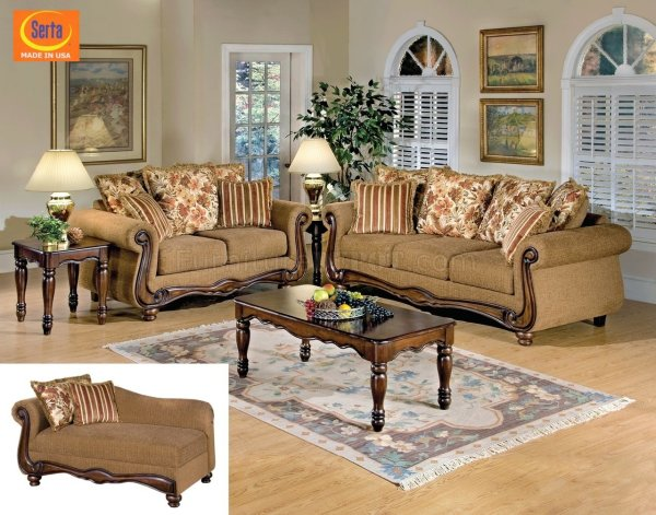 50310 Olysseus Sofa In Brown Floral Fabric Acme Furniture