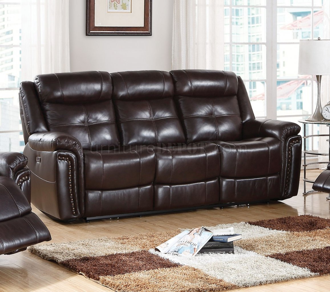 caruso leather 5 piece power motion sectional sofa smith brothers of berne conversation anita 54160 in espresso match by