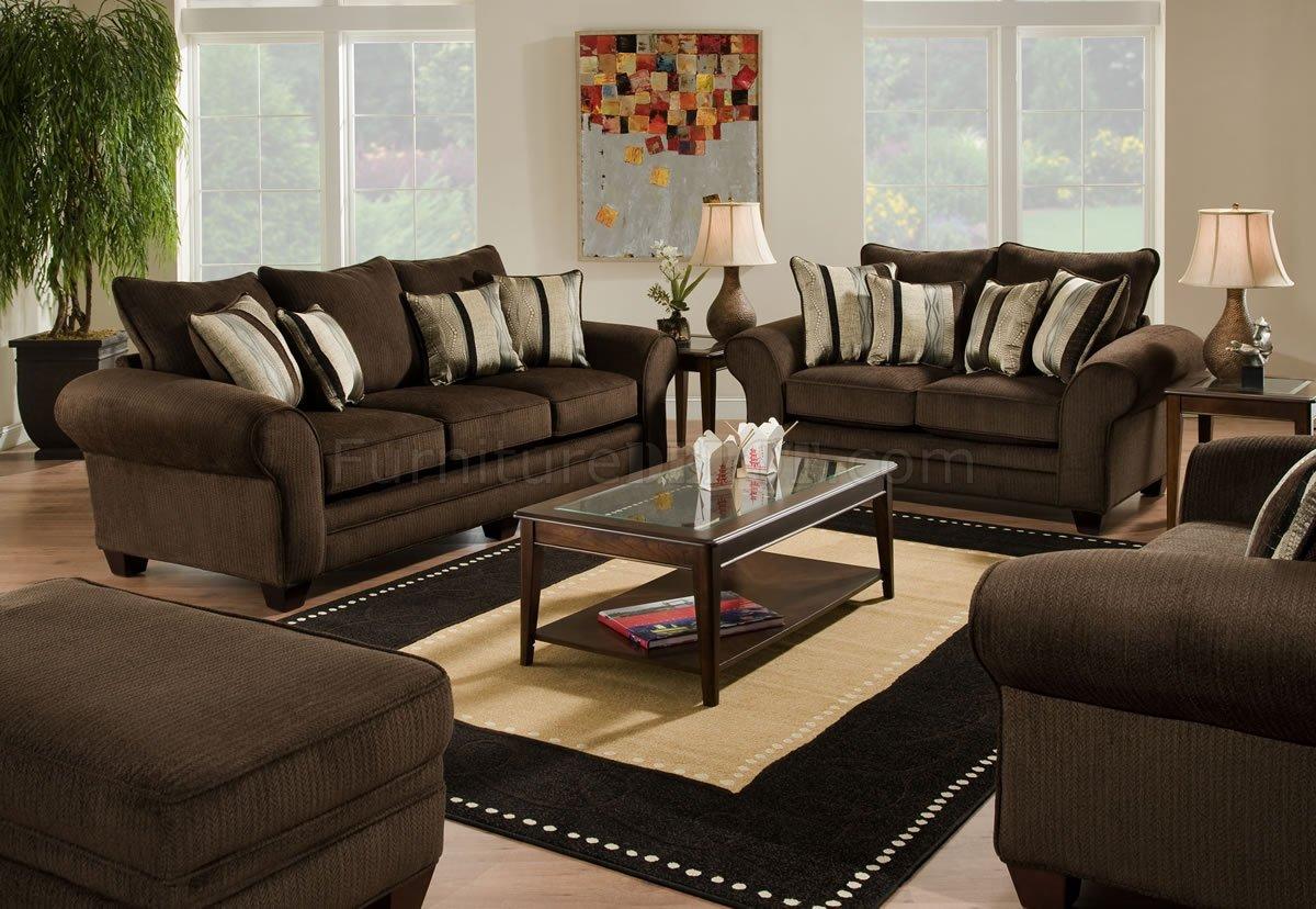 dark brown sofa with blue pillows animal print fabric set modern 3pc w