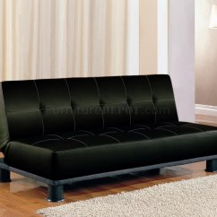 Black And White Leather Sofa Bed Images Faux Modern Convertible 300163