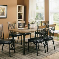 Black Metal And Wood Dining Chairs Chaise Lounge Ikea Perfect Dorel Living Devon